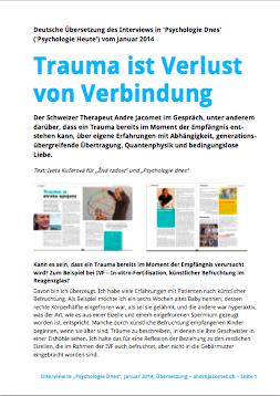 """Deutsche Übersetzung """"Psychologie Dnes"""" Januar 2014"""